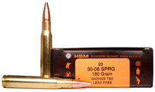 HSM 30-06 Springfield 180gr TSX BT Lead-Free Ammo - 20 Rounds