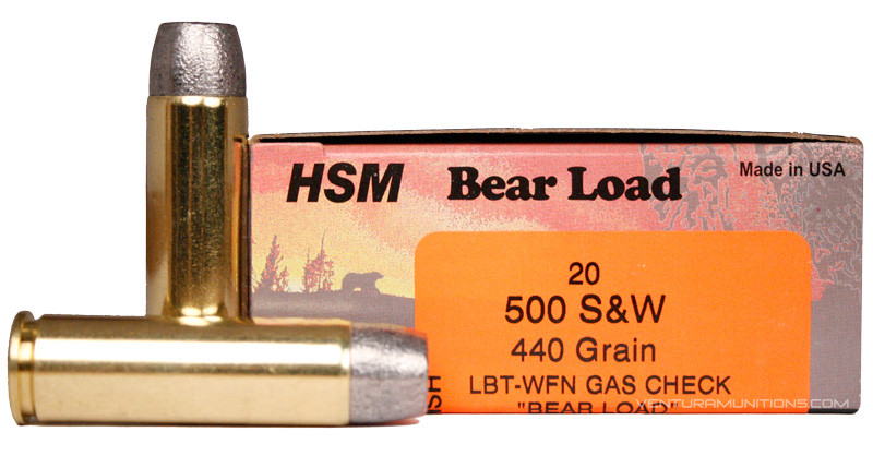 HSM 500 S&W 440gr Bear Load Ammo for Sale | Ventura Munitions