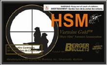 HSM 222 Remington  40gr  FB Ammo - 20 Rounds