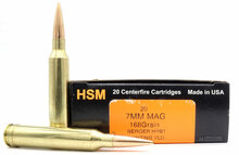 HSM 7mm Remington Magnum 168gr VLD Ammo - 20 Rounds