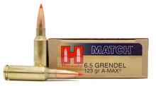 Hornady 6.5 Grendel 123gr A-MAX® Ammo - 20 Rounds