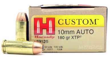 Hornady 10mm 180gr JHP/XTP Ammo - 20 Rounds