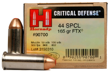 Hornady 44 Special 165gr  FTX Critical Defense Ammo - 20 Rounds