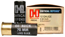 Hornady 12 Gauge - #00 Buck Critical Defense Ammo - 10 Rounds