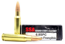 Silver State Armory 6.8 SPC 85gr Frangible RRLP Ammo - 20 Rounds