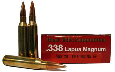 338 Lapua 300 Grain Matchking HP Black Hills Ammunition