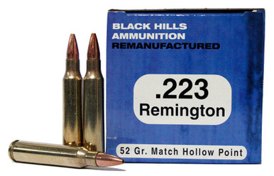 Black Hills 223 Remington 52gr  Match HP Ammo - 50 Rounds