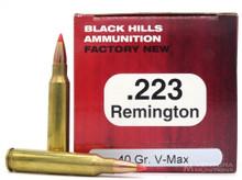 Black Hills 223 Remington 40gr Hornady V-MAX™ Ammo - 50 Rounds