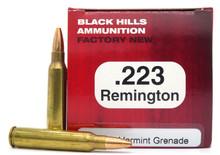 Black Hills 223 Remington 36gr Varmint Grenade Ammo - 50 Rounds