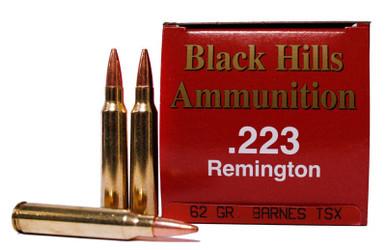 Black Hills 223 Remington 62gr Barnes TSX Ammo for Sale ...