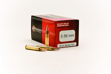 Black Hills 5.56 MM 50gr TSX Ammo - 50 Rounds