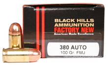Black Hills 380 ACP 100gr  FMJ Ammo - 20 Rounds