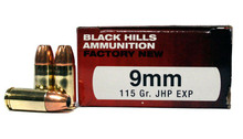 9 MM 115 Grain JHP EXP Black Hills Ammunition