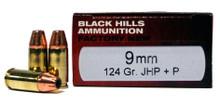 Black Hills 9mm 124gr JHP+P Ammo - 20 Rounds