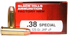 Black Hills 38 Special 125gr JHP+P Ammo - 50 Rounds