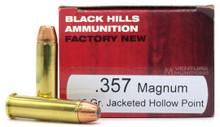 Black Hills 357 Magnum 125gr JHP Ammo - 50 Rounds