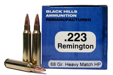 Black Hills 223 Remington 68gr Heavy Match HP Remanufactured Ammo - 50 Rounds