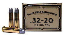 Black Hills 32-20 Winchester 115gr FPL Ammo - 50 Rounds