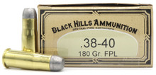 Black Hills 38-40 Winchester 180gr FPL Ammo - 50 Rounds