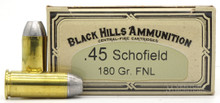 Black Hills 45 Schofield 180gr FPL Ammo - 50 Rounds