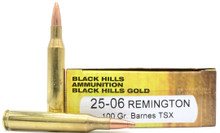 Black Hills 25-06 Remington 100gr Barnes TSX Ammo - 20 Rounds