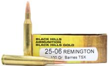 Black Hills 25-06 Remington 100gr Barnes TSX Ammo - 20 Rounds