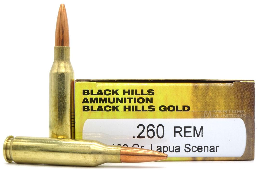 Black Hills 260 Remington 139gr Lapua Scenar Ammo for Sale ...