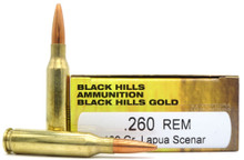 Black Hills 260 Remington 139gr Lapua Scenar Ammo - 20 Rounds