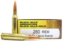 Black Hills 260 Remington 139gr Lapua Scenar Ammo - 20 Rounds