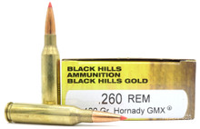 Black Hills 260 Remington 120gr Hornady GMX Ammo - 20 Rounds