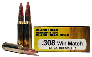 308 Winchester 168 Grain Barnes TSX Black Hills Ammunition