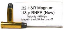 Ventura Heritage 32 H&R Magnum 118gr RNFP Ammo - 50 Rounds