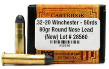 Ventura Heritage 32-20 Winchester 80gr RN Ammo - 50 Rounds