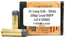 Ventura Heritage 41 Long Colt 200gr RNFP Ammo - 50 Rounds