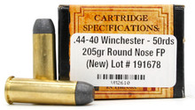 Ventura Heritage 44-40 Winchester 205gr RNFP Ammo - 50 Rounds