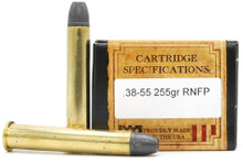 Ventura Heritage 38-55 Winchester 255gr RNFP Ammo - 20 Rounds