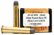 Ventura Heritage 40-65 Winchester 255gr RNFP Ammo - 20 Rounds