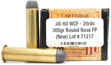 Ventura Heritage 45-60 WCF 305gr RNFP Ammo - 20 Rounds