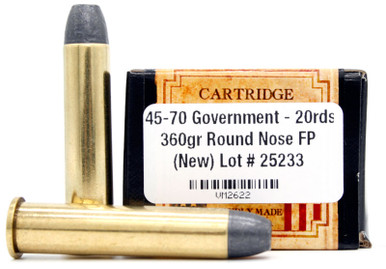 Ventura Heritage 45-70 Government 360gr RNFP Ammo - 20 Rounds