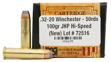 Ventura Heritage 32-20 Winchester 100gr JHP (Hi Speed) Ammo - 50 Rounds