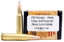 Ventura Heritage 250 Savage 120gr BTSP Ammo - 20 Rounds