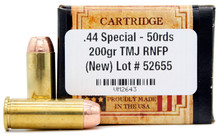 Ventura Heritage 44 Special 200gr TMJ Ammo - 50 Rounds