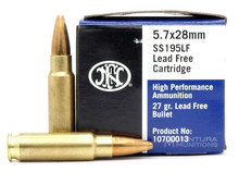 FNH Ammo 5.7x28mm 27 Gr JHP Lead-Free - 50 Rounds