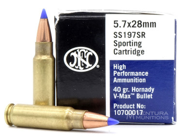 FNH Ammo 5.7x28mm 40 Gr V-Max - 50 Rounds