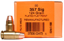 HSM 357 SIG 124gr TMJ Processed Ammo - 50 Rounds