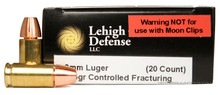 Lehigh Defense 9mm 105 Gr CF - 20 Rounds