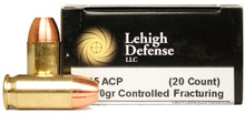 Lehigh Defense 45 ACP 170 Gr CF - 20 Rounds