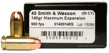 Lehigh Defense 40 S&W 140 Gr ME - 20 Rounds
