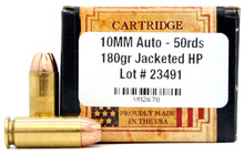 Ventura Heritage 10mm 180gr JHP Ammo - 50 Rounds