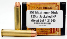 Ventura Heritage 357 Maximum 125gr JHP Ammo - 50 Rounds